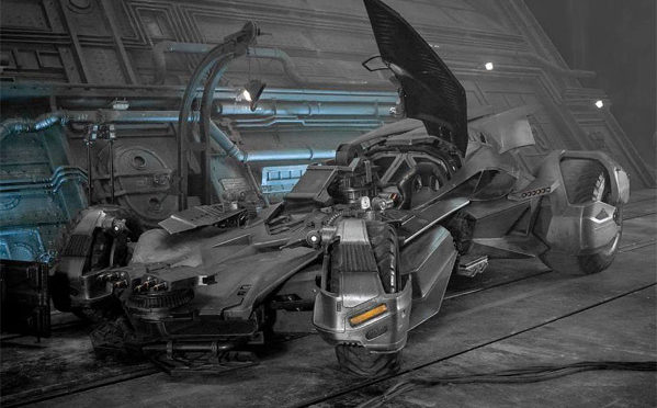 Take a Peek at the New Batmobile for 'JUSTICE LEAGUE'!