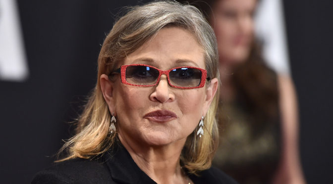 Author, Actress, Princess, and General, Carrie Fisher Passes at 60.